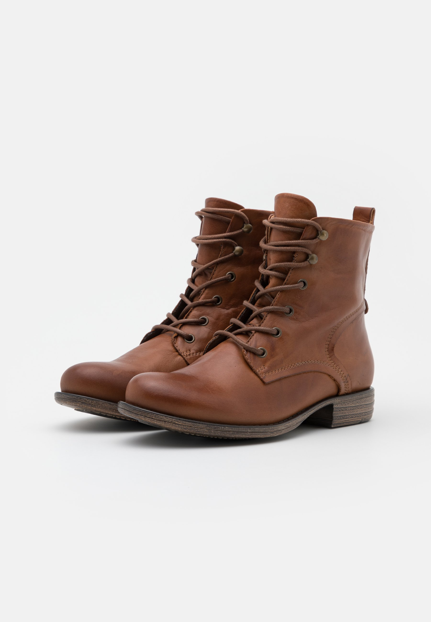 Anna Field LEATHER Schnürstiefelette cognac