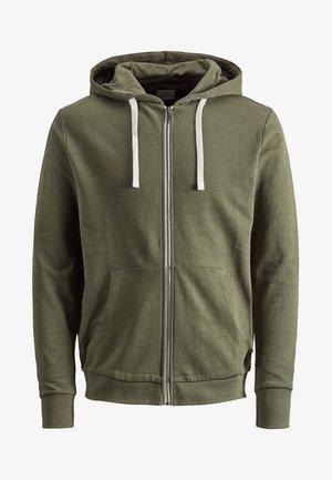 JJEHOLMEN - Zip-up hoodie - khaki
