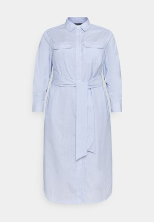 BISHNAL LONG SLEEVE CASUAL DRESS - Shirt dress - blue/white