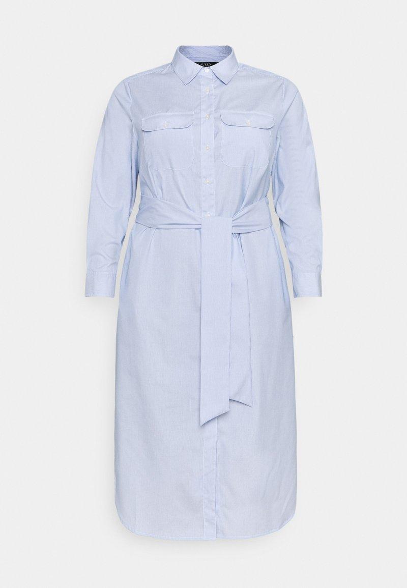 Lauren Ralph Lauren Woman - BISHNAL LONG SLEEVE CASUAL DRESS - Paitamekko - blue/white