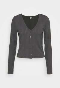 BUTTON UP - Cardigan - gray/offblack