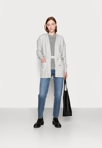 Gap Tall - BELTED OPEN SUPER PLUSH - Cardigan - grey - 1