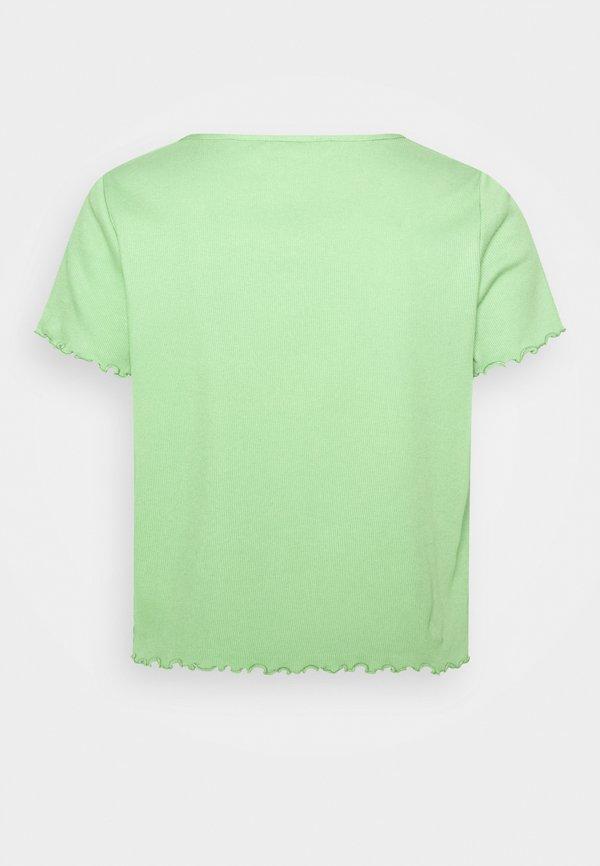 Monki NILLAN - T-shirt z nadrukiem - green Kolor jednolity Odzież Damska YQSS WY 1