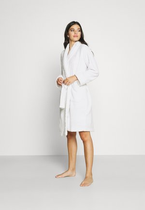 CLIPPED SHAWL COLLAR ROBE - Dressing gown - white