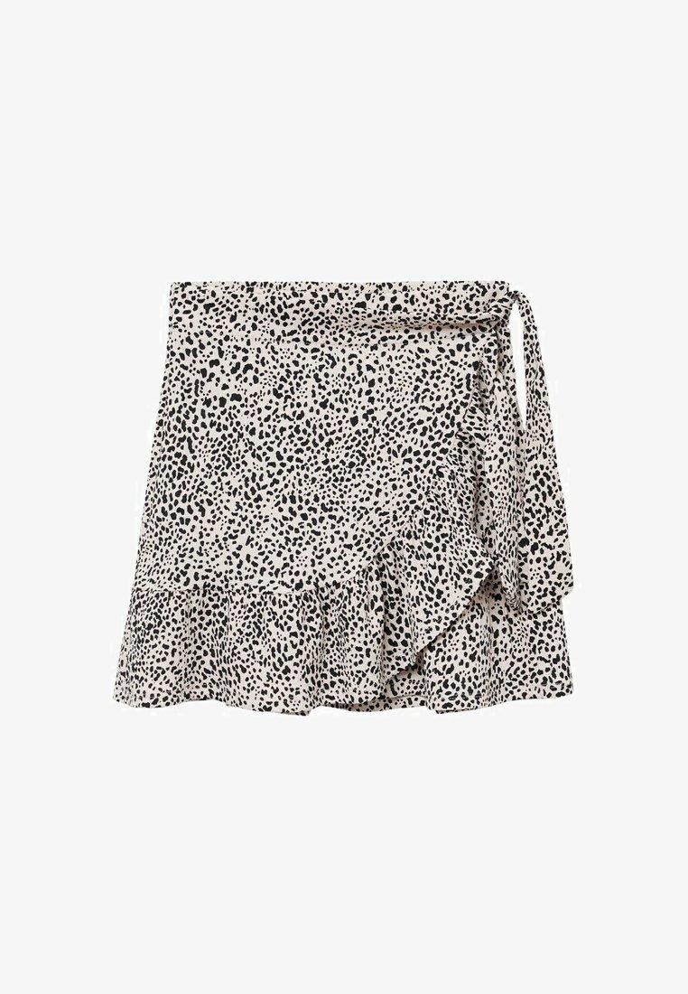 Mango - Wrap skirt - ecru