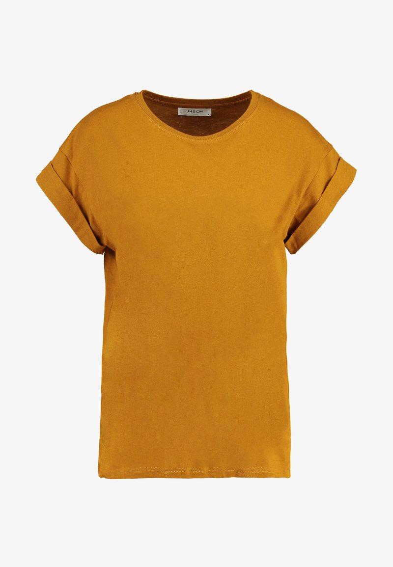 Moss Copenhagen ALVA PLAIN TEE - T-Shirt basic - jojoba/hellgelb n5ZQEP
