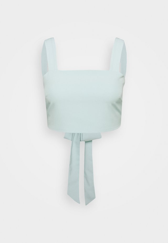 CROP TOP WITH WIDE STRAPS - Blouse - mint