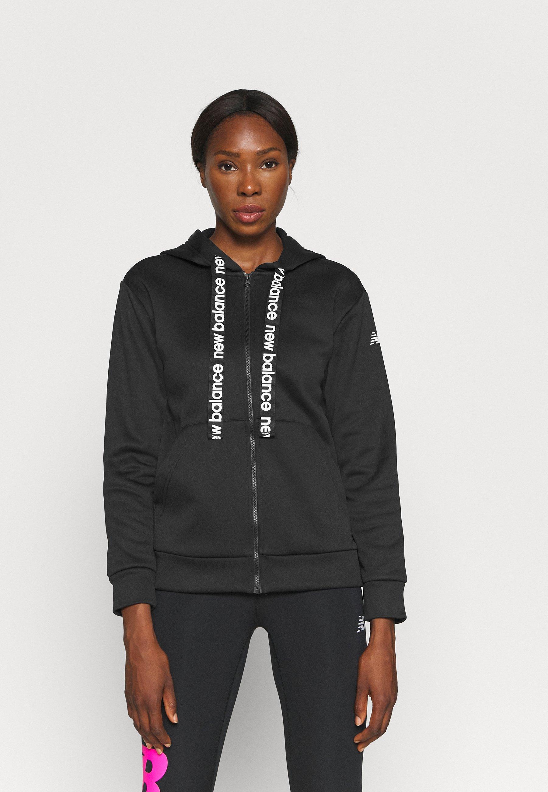 Women RELENTLESS TRAIN FULL ZIP - Zip-up sweatshirt - black