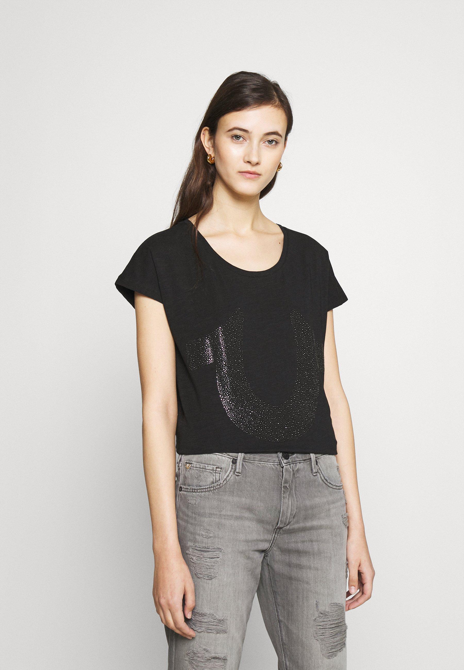Women BOXY CREW NECK HORSESHOE - Print T-shirt