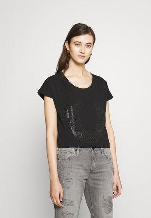 BOXY CREW NECK HORSESHOE - T-shirt print - black