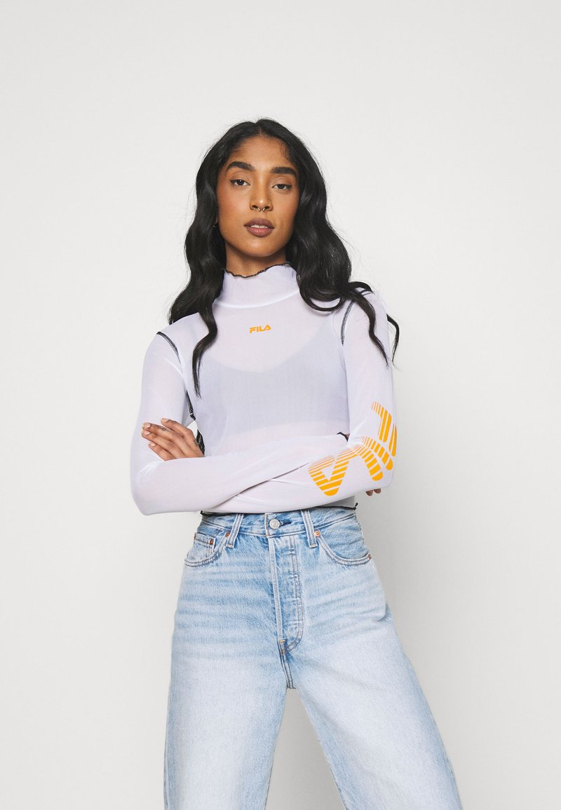 Fila - ALYRA CROPPED TOP - Long sleeved top - bright white