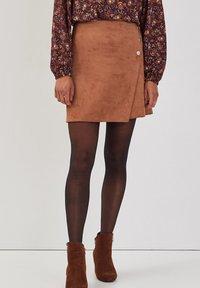 Cache Cache - ASYMMETRISCHER  - A-line skirt - marron clair - 0