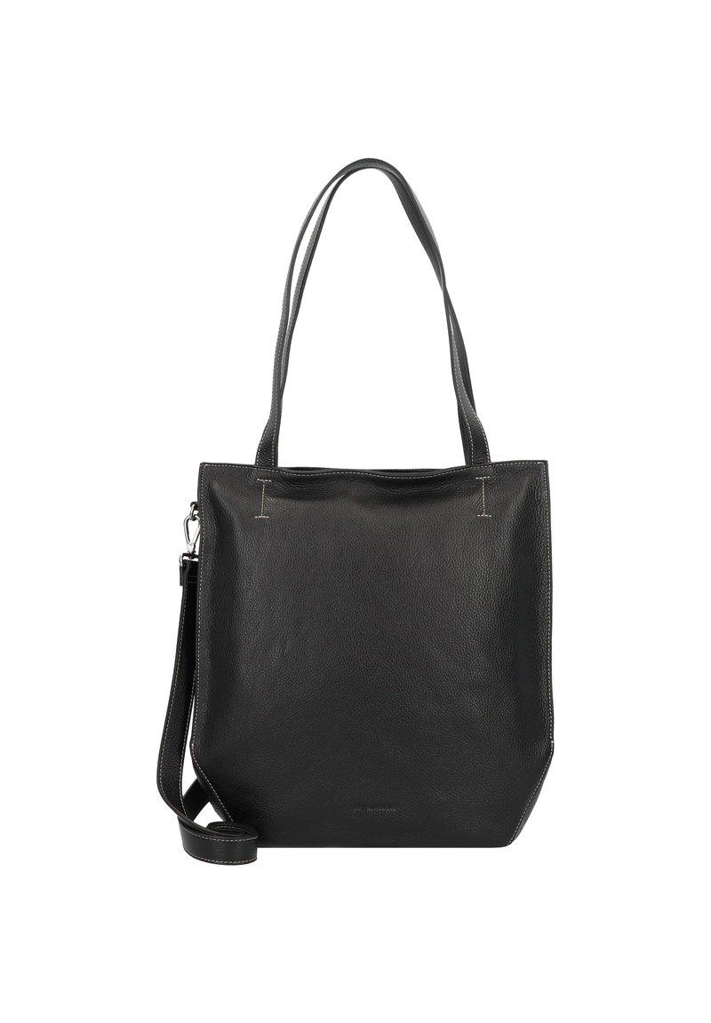 FREDsBRUDER - MELFI SCHULTERTASCHE LEDER 33 CM - Handbag - black