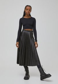 PULL&BEAR - Long sleeved top - black - 1