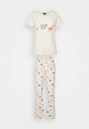 WOODLAND ANIMAL FOLDED - Pyjama set - oatmeal
