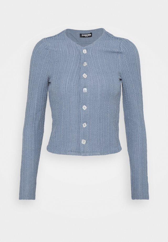 NORA CARDI - Vest - blue texture