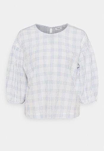 BLOUSE CHECKED SLEEVES