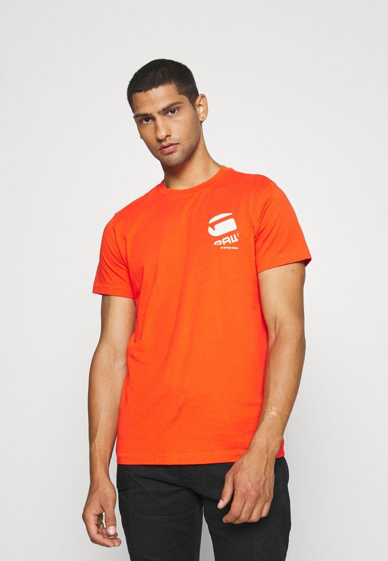 G-Star - BIG LOGO BACK  - T-shirt print - bright acid