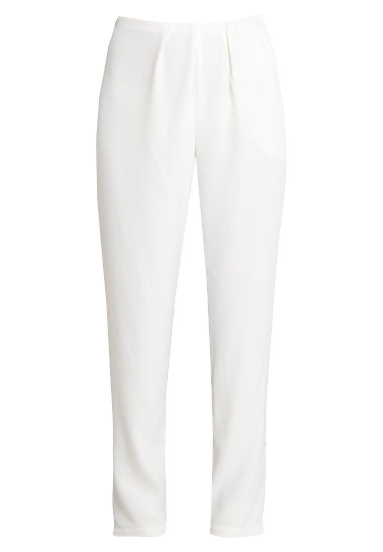 Stefanel PANTALONE DETTAGLI PIEGHE - Bukse - off white