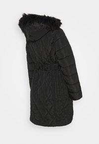 Dorothy Perkins Maternity - QUILT LONG LUXE BELTED COAT - Winter coat - black - 1