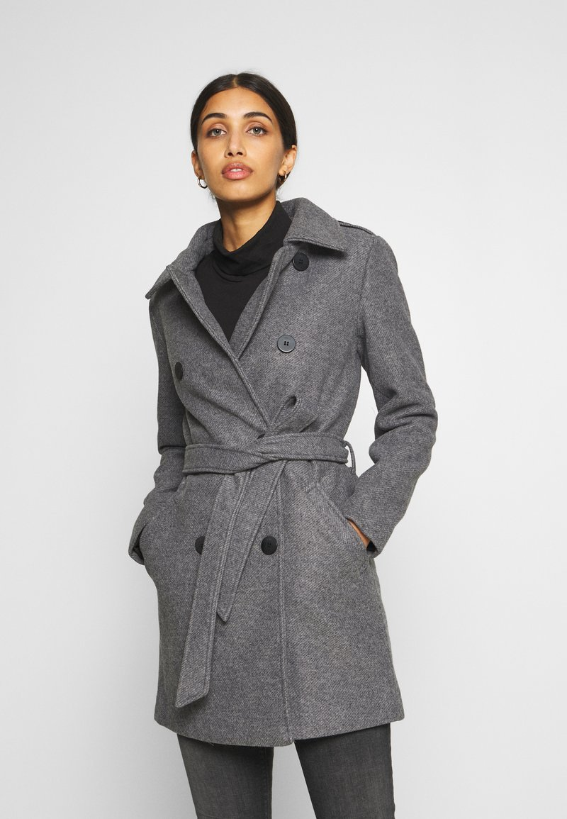 ONLY - ONLSANSA COAT - Krátký kabát - dark grey melange