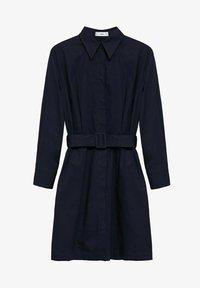 Mango - Shirt dress - azul marino - 5