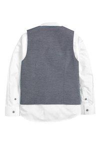 Next - BLUE CHECK WAISTCOAT, SHIRT AND TIE SET (12MTHS-16YRS) - Waistcoat - blue - 1
