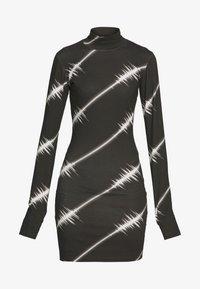 House of Holland - SOUNDWAVE MINI DRESS - Jersey dress - black - 4
