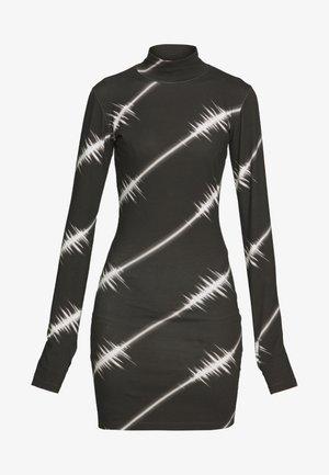 SOUNDWAVE MINI DRESS - Jersey dress - black