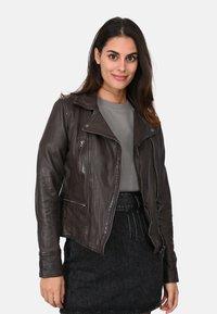 Oakwood - Leather jacket - light brown - 0