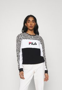 Fila - AMINA BLOCKED CREW  - Felpa - black/white - 0
