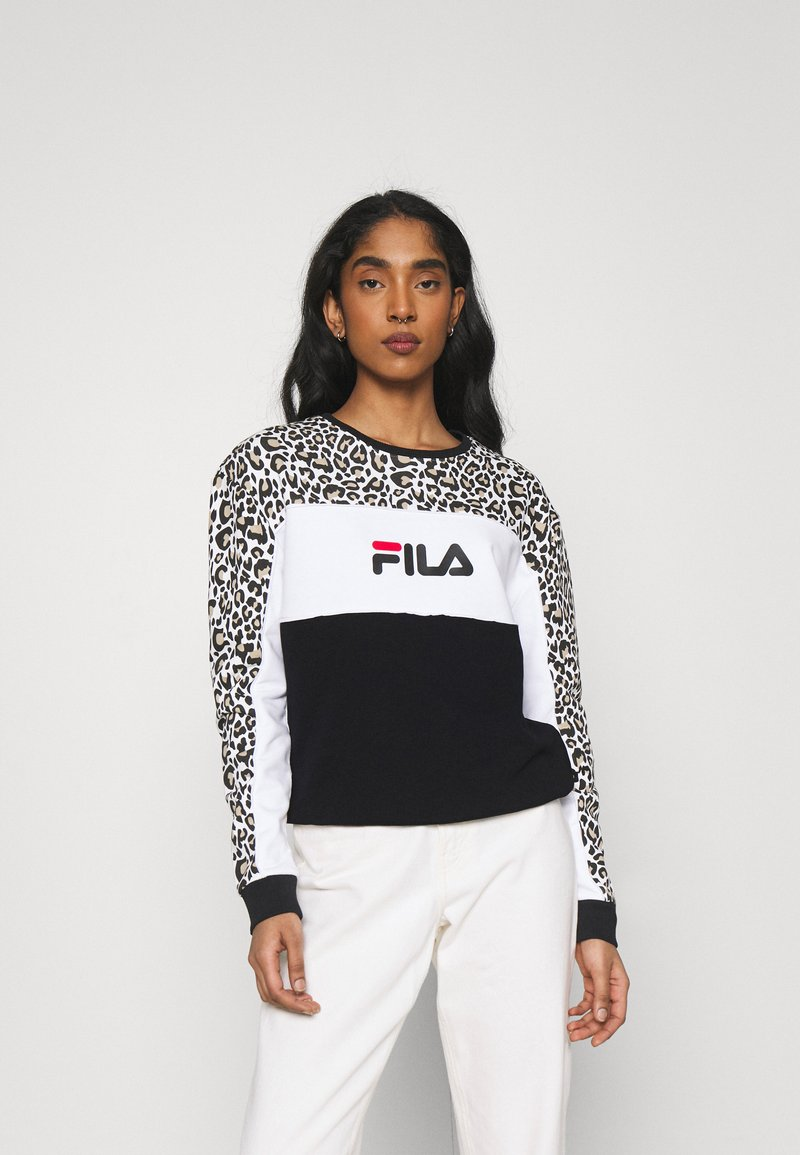 Fila - AMINA BLOCKED CREW  - Felpa - black/white