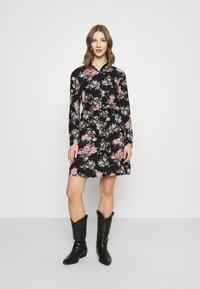 Pieces - PCPAOLA LS DRESS - Shirt dress - black - 0