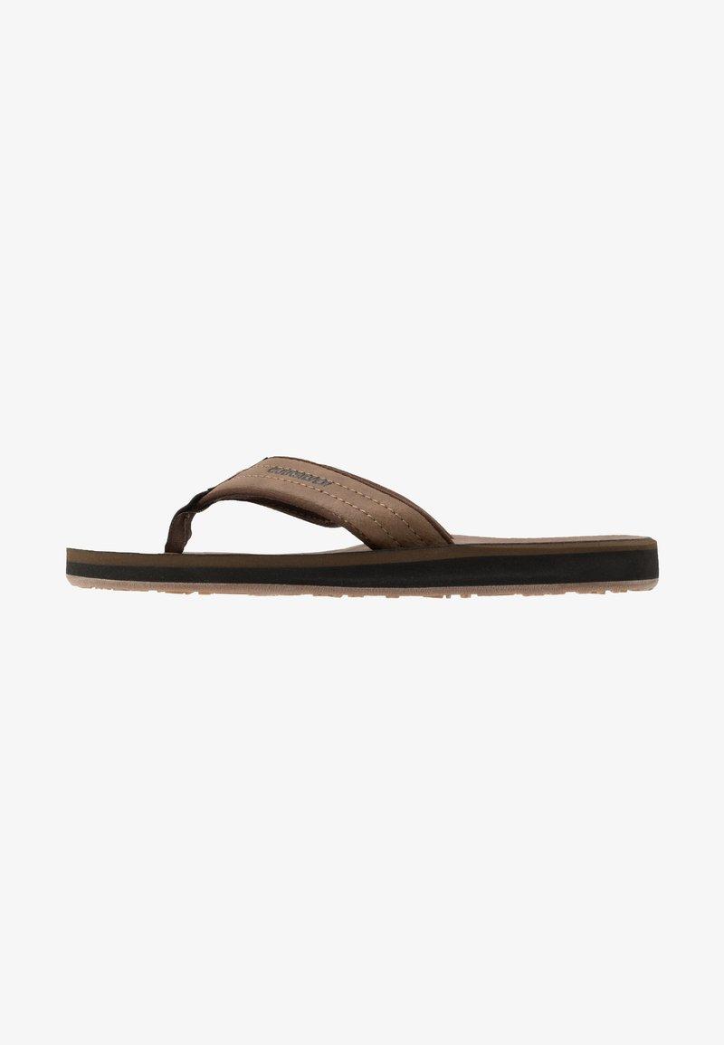 Quiksilver - CARVER - T-bar sandals - tan