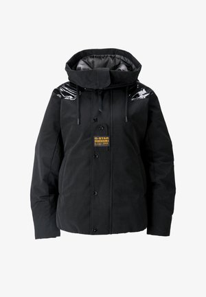 TECH PADDED HOODED MID - Winter jacket - dk black