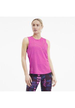 TRAIN FAVORITE CAT MUSCLE - T-shirt sportiva - luminous pink