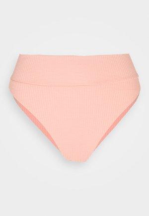 HI CUT CHEEKY WAFFLE - Bikini bottoms - beach peach