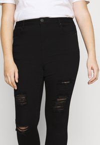 Simply Be - HIGH WAIST - Jeans Skinny Fit - black - 4