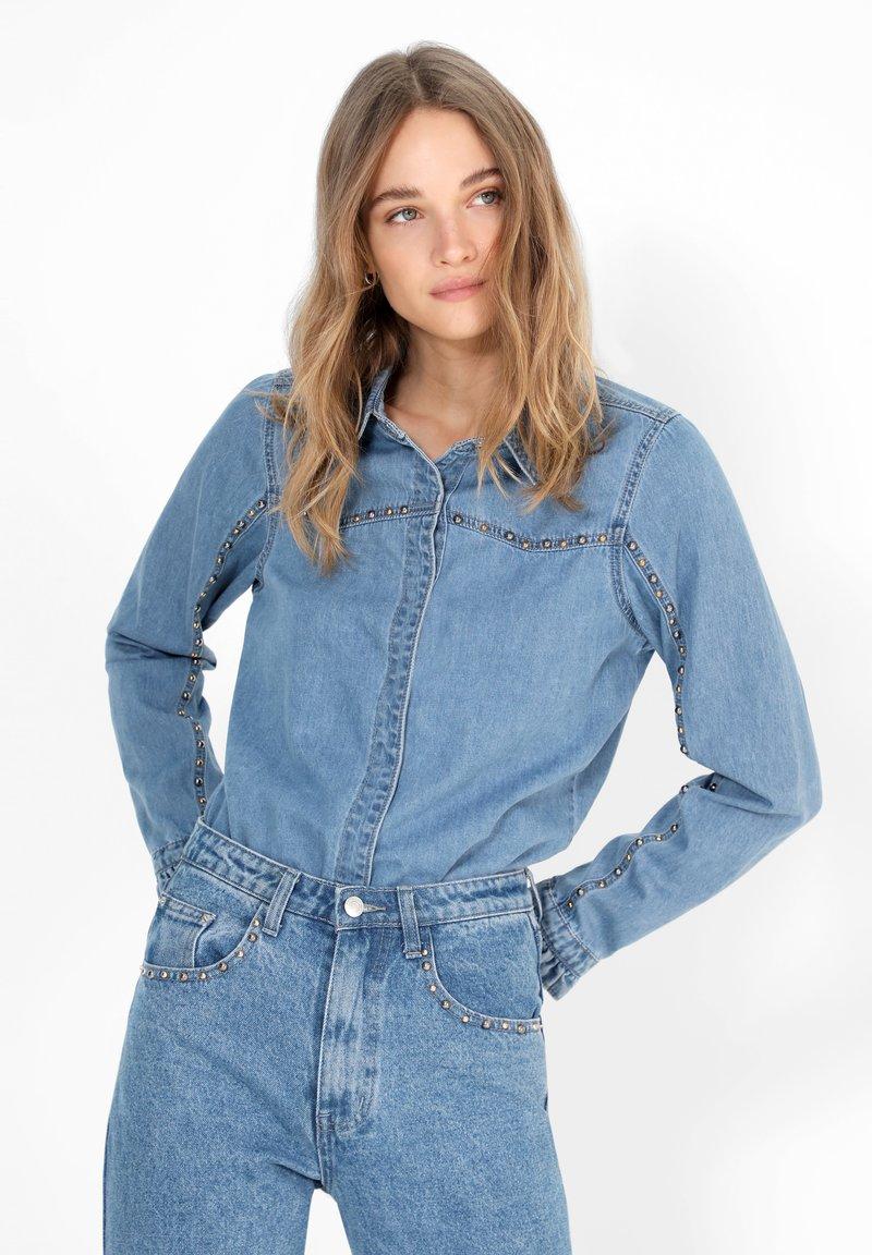 Scalpers - Button-down blouse - blue