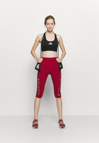Even&Odd active - 3/4 sports trousers - dark red - 1