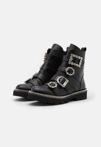 Dune London - PAGOLA - Cowboy/biker ankle boot - black - 1