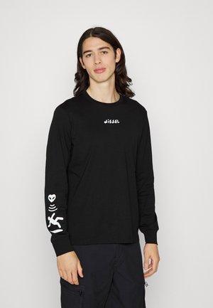 JUST SLITS UNISEX - Pitkähihainen paita - black