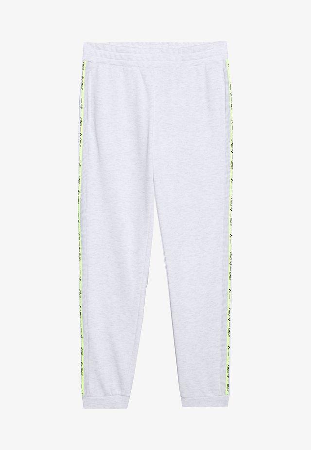 ONPALYSSA PANTS PETITE - Verryttelyhousut - white melange/saftey yellow