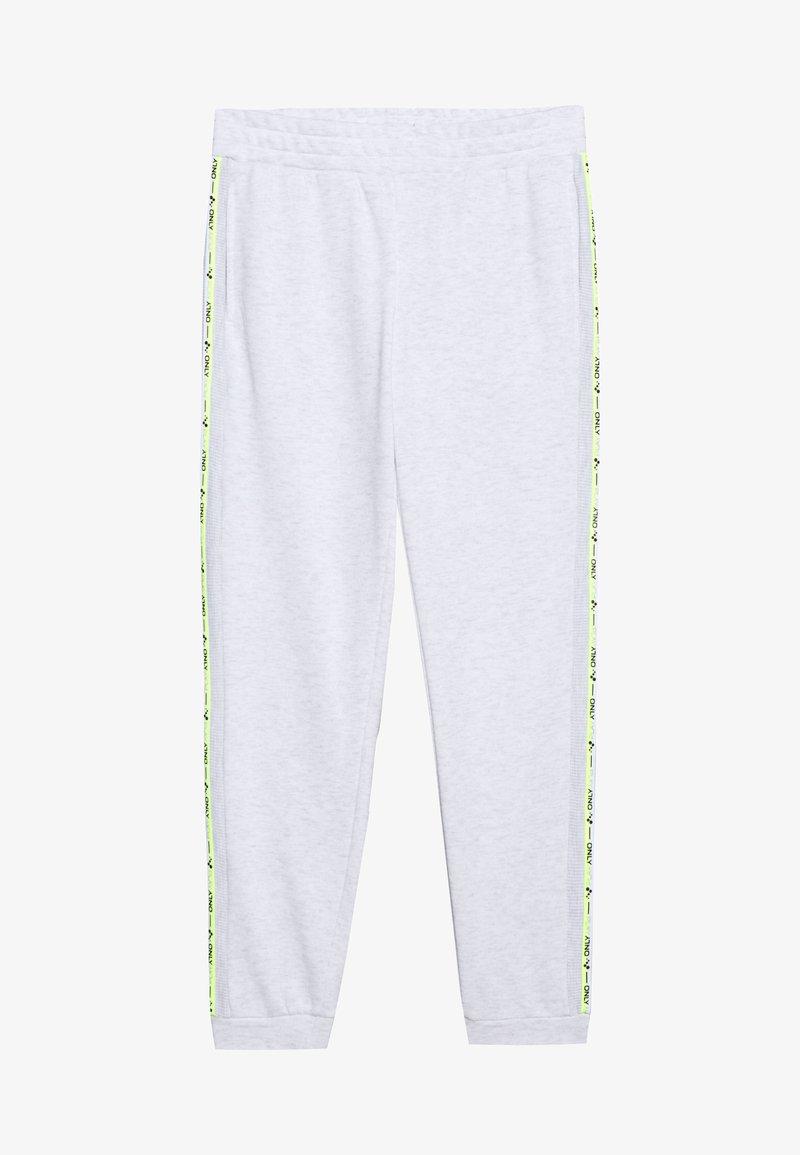 ONLY PLAY Petite - ONPALYSSA PANTS PETITE - Pantalones deportivos - white melange/saftey yellow