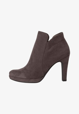 High heeled ankle boots - graphite