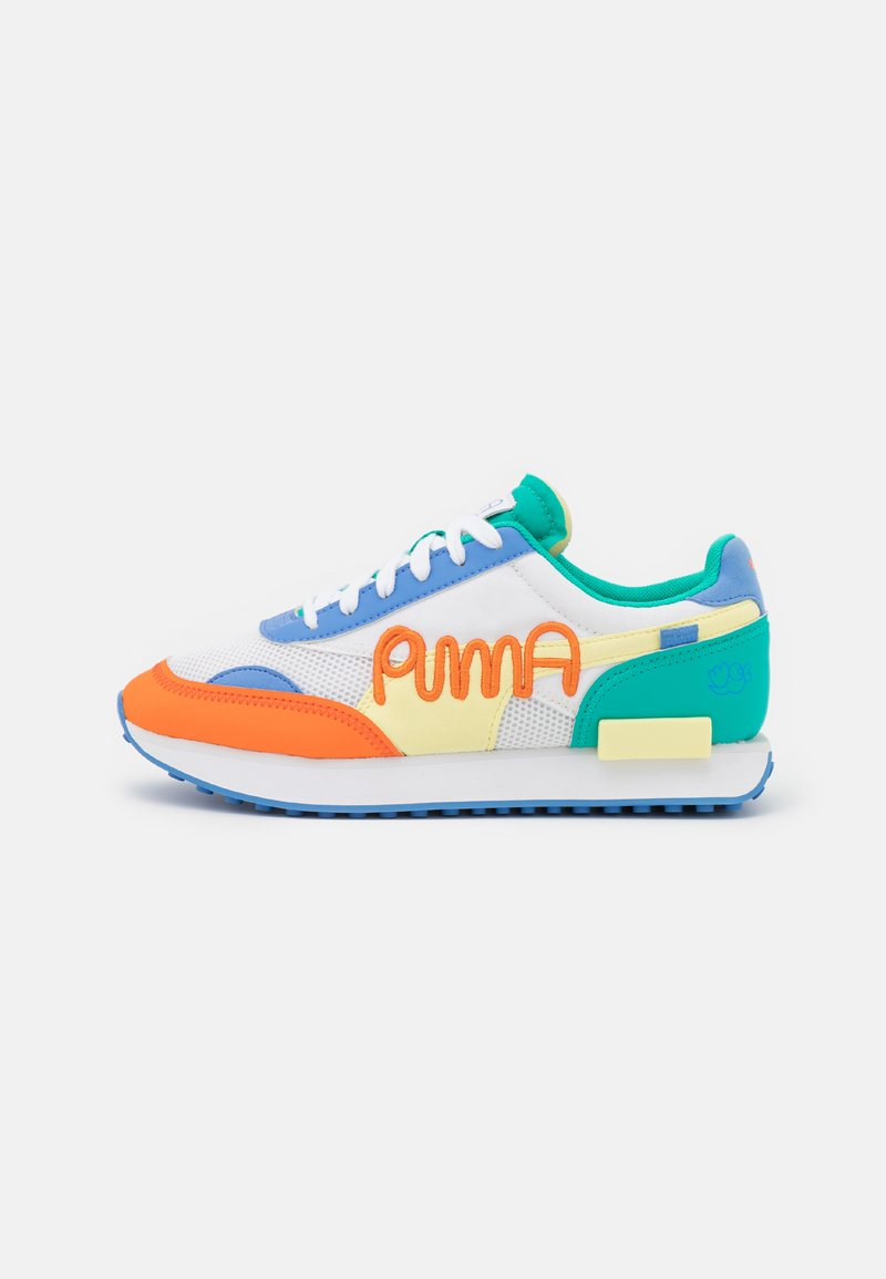 Puma - FUTURE RIDER UNISEX - Baskets basses - white/yellow pear/ultramarine