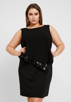 XTIAN KNEE DRESS - Juhlamekko - black