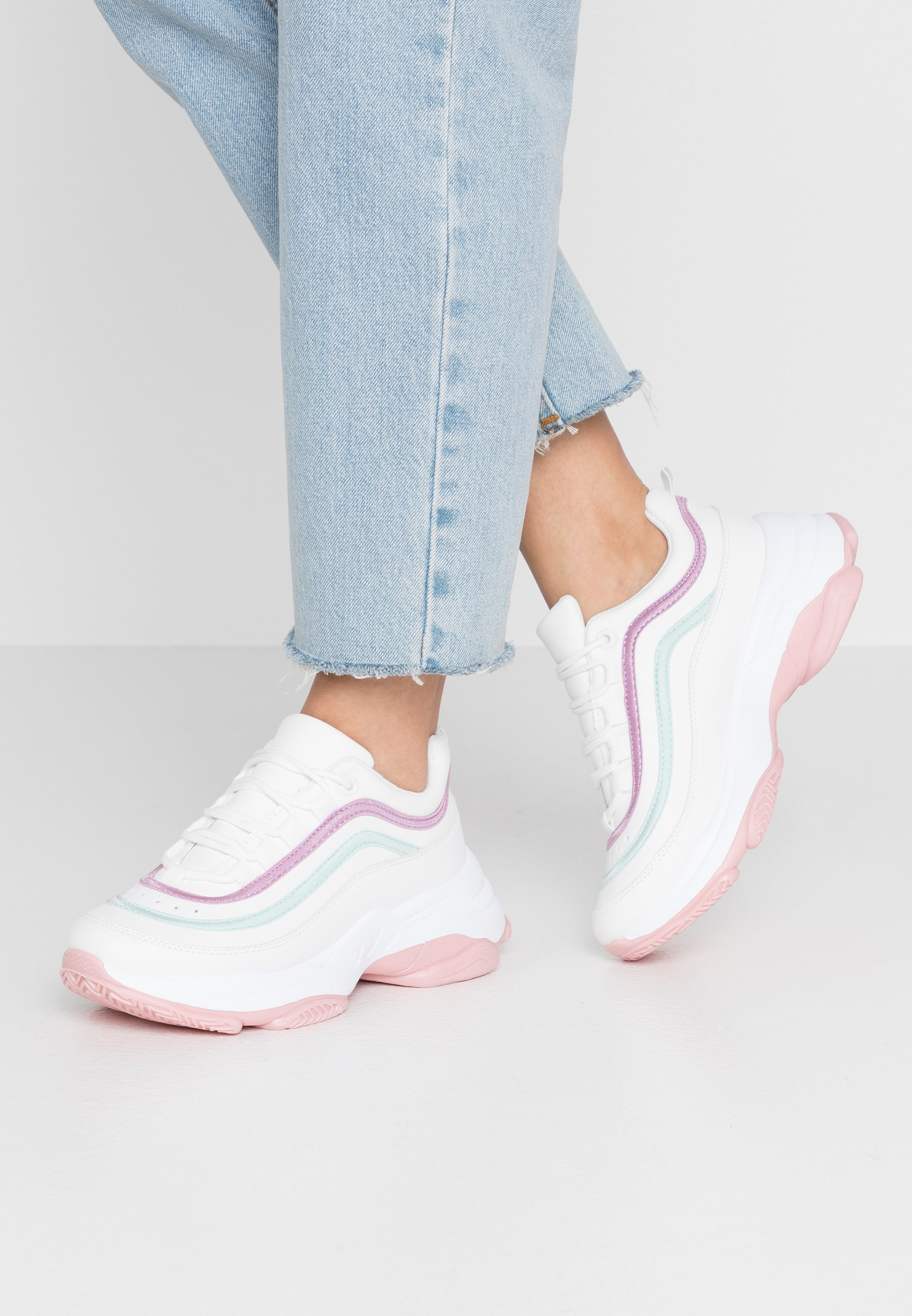 Women VEGAN LIZZIES - Trainers - white/light pink/multicolor