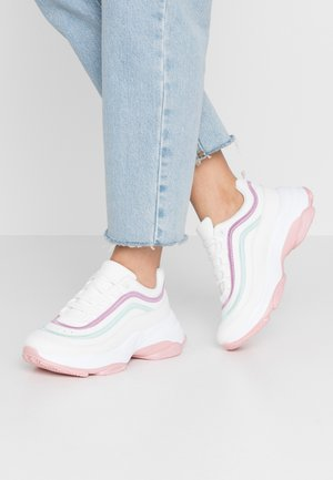 VEGAN LIZZIES - Joggesko - white/light pink/multicolor