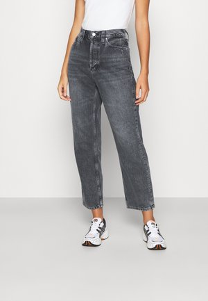 DAD JEAN - Relaxed fit jeans - washed black dart